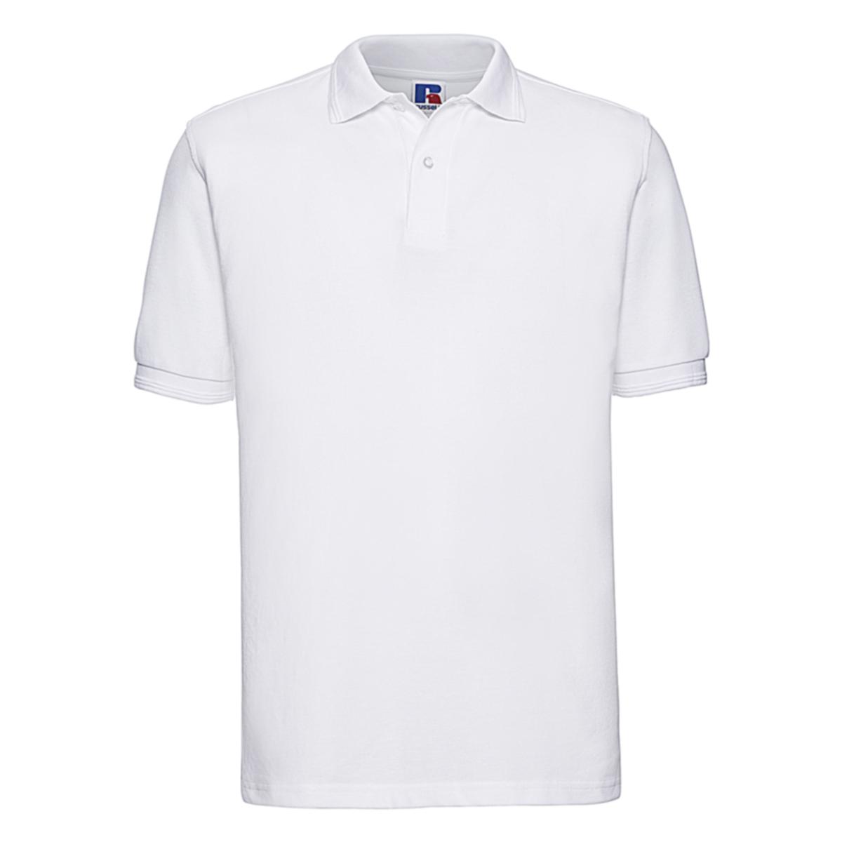 RUSSELL Herren Hardwearing Polycotton Polo Shirt XS bis 6XL Übergrößen Z599