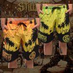 Stillbirth - Surf-Shorts - in grün & orange - Größe S - 4XL - Limitiert