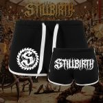 Stillbirth - Striped Hot Pants - Logo weiß - Größe XS - XL