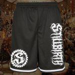 Stillbirth - Premium Mesh Shorts mit Reißverschlusstaschen - Logo weiß - Größe S - 2XL