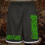 Stillbirth - Premium Mesh Shorts mit Reißverschlusstaschen - Logo grün - Größe S - 2XL