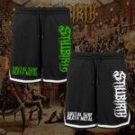 Stillbirth - Mesh Shorts mit Streifen - Brutal Surf Death Metal - Größe S - 3XL