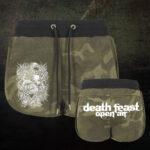 Deathfeast OA - Camo Hot Pants - Logo weiß - Größe XS - XL