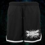 Esophagus - Mesh Shorts mit Streifen - Logo - Größe S - 3XL