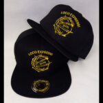 Loco Express - Snapback Caps - Goldener Logo Stick