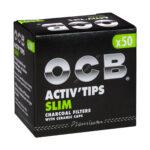 OCB Slim Aktivkohlefilter - Ø 7mm - im Set mit 10 - 500 Stück