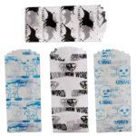 Snice - Tütchen aus Pergamentpapier - 600 Stück - 35x76mm - 4 Designs