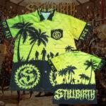 Stillbirth - Hawaii-Shirt - in gelb/grün - Größe S - 3XL - Limitiert