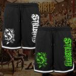 Stillbirth - Mesh Shorts mit Streifen - Shark-Attack - Größe S - 3XL